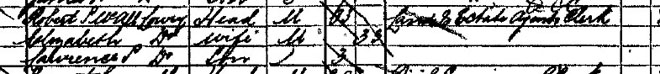 Lowry in 1891 Census